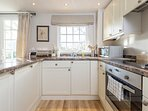 The kitchen allows you to cook whatever you fancy. Or you can explore the local cafes and pubs.
