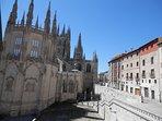 Vistas desde balcón cocina a la Catedral de Burgos
