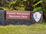 Volcanoes National Park, a must visit and an easy drive from the house.