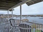 Main Floor wraparound porch overlooking the Cove.