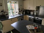 Electric appliances, dishwasher, washing machine, fridge freezer.