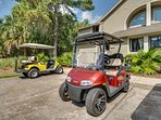 Get outside and enjoy the golf cart!