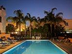 Communal Swimming Pool at Night