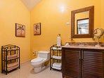 Guest bathroom, vanity area