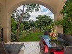 Matapalo 205, a luxury condo, end unit, semi private garden area