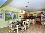 Huge dining area - right off the kitchen...