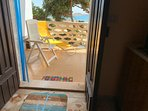 vista mare dalla cucina ed anche dalla veranda