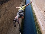 Bungy jumping at Isthmus Canal