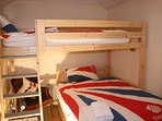 Innovative custom made Queen size (4') bunk bed arrangement for 2020.