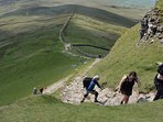 Hiking in the famous Yorkshire Dales which are easily reachable from Leeds