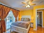 Both bedrooms boast lovely queen beds.