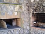 The barbecue and the pizza oven