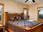 Main floor King Master with en suite, 49' Smart HDTV, Netflix/Hulu streaming services, and mountain