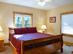 Spacious Terrace King bedroom with 49' Smart HDTV, Netflix/Hulu streaming services, and mountain vie