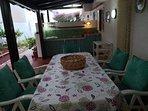 veranda interna con cucina