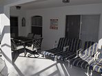 6 Seater table and chairs plus 4 Sun Loungers