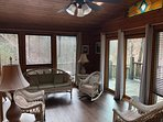 sunroom with antique wicker from Tammy's family