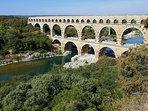 Le pont du Gard et ses sons et lumières en été