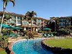 Waipouli Beach Resort Lobby Entrance from Pool