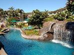 Waipouli Beach Resort Water Fall
