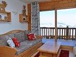 Séjour vue Mont-Blanc