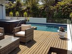 Pool on main deck of owners house