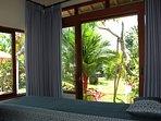 massage room with garden view