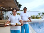 In-villa dining and daily cleaning by our staff