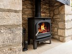 ...including another roaring wood burning stove