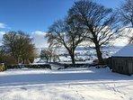 Sunning snowy views