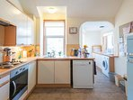 Bright kitchen and utility area