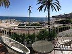 Vistas desde la terraza del apartamento de la playa de Sant Pol