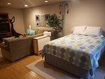 2nd queen bed in basement