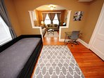 Bonus Room With Twin Sized Trundle Beds, Desk And Chair