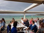 Lunch at The Hut in Colwell Bay - 25mins drive west of Cowes