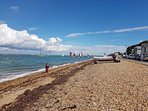 Cowes Beach, 5-10 mins walk from the house