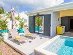 Iguane house villas & micro spa villa Passion terrasse