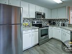 Prepare tasty snacks or beverages in the spacious kitchen