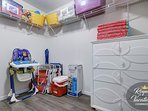 Walk-in closet/ Pack'n Play Playard/ Chairs, Cooler and Umbrella for the Beach