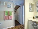 Master Bathroom & entrance in spacious walk-in closet