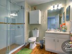 Second Bathroom - Spacious shower with glass enclosure