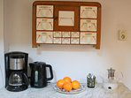 Koffie en theefaciliteiten Huisje Vogelenzang Zeeland