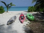 We have 3 FREE kayaks for our guests