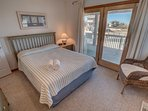 Mid-Level Queen Bedroom with Deck Access