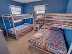 Mid-Level Bedroom with Duo Bunk and Bunk Bed