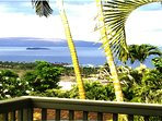 View from the lanai and living room.