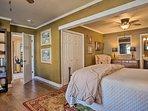 This room features birch hardwood flooring.