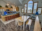 Additional Dining Table seats 6 ** The high chair seen in photos is no longer at the property. If baby equipment is...
