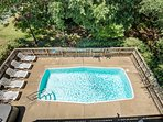 Top-Level Deck View of Private Pool