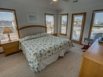 Top-Level King Bedroom with Deck Access, shares access to Hall Bathroom